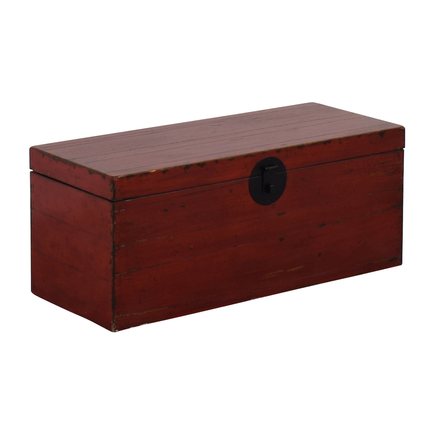 Asian Style Red Rustic Trunk second hand