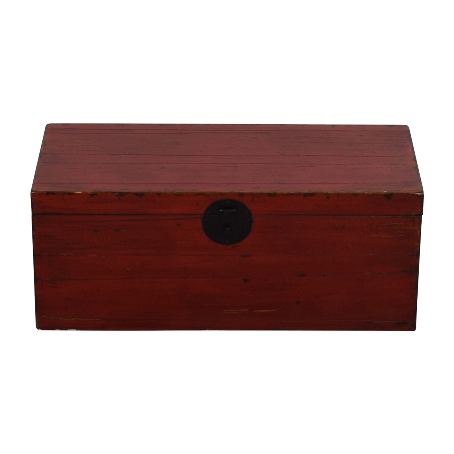 Asian Style Red Rustic Trunk Red