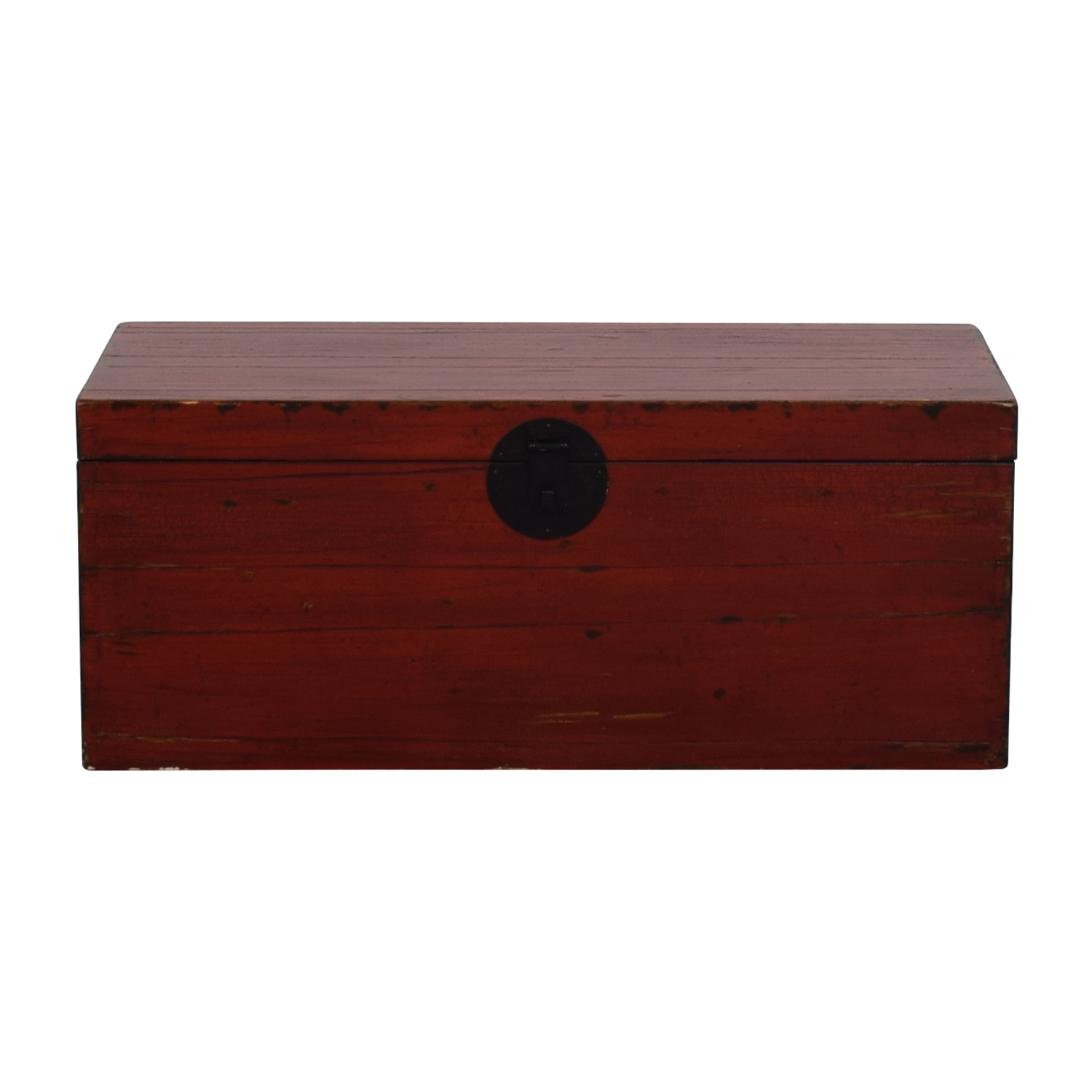 Asian Style Red Rustic Trunk dimensions