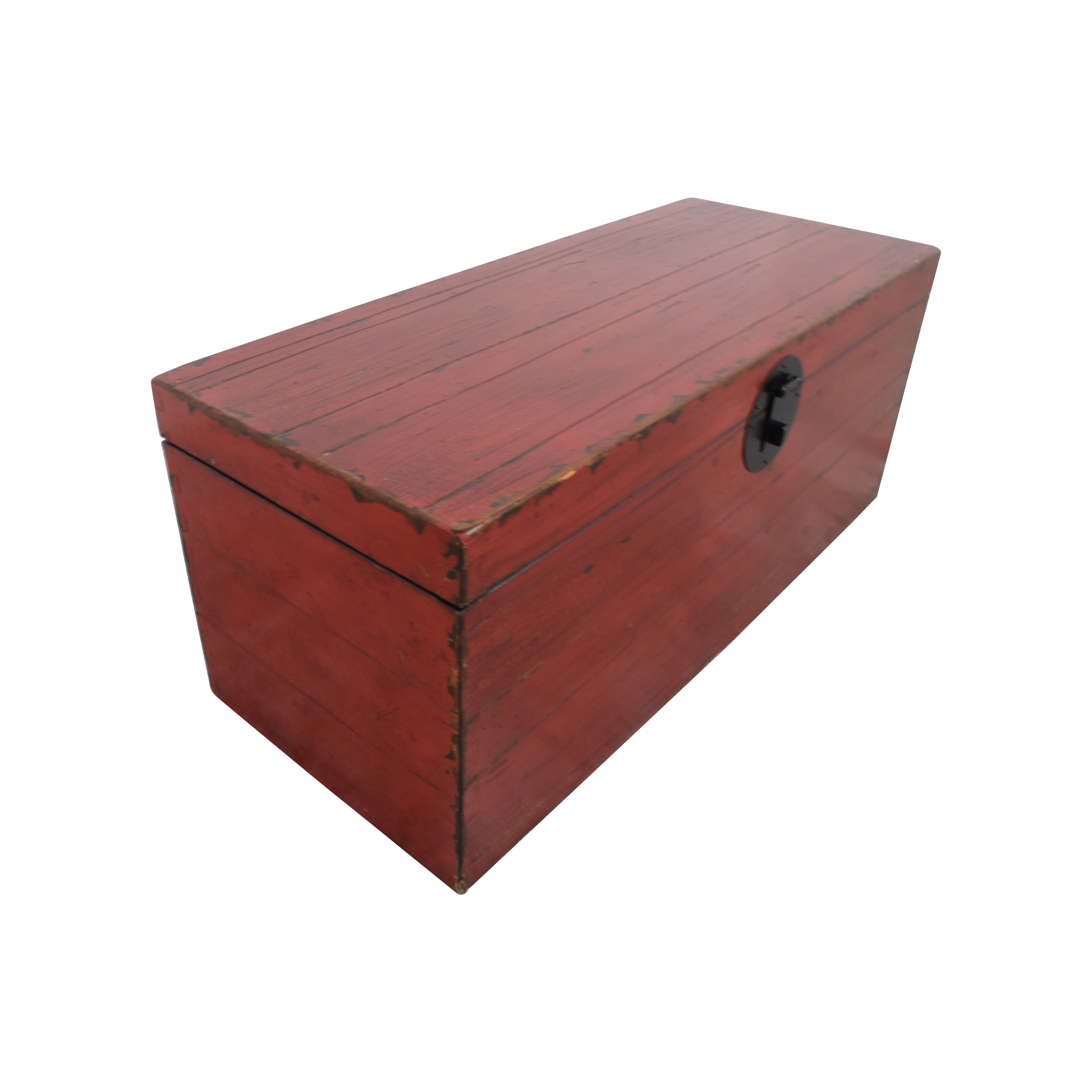 Asian Style Red Rustic Trunk