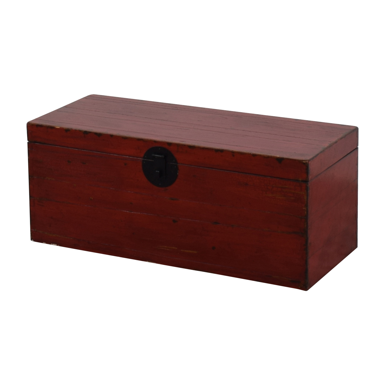 Asian Style Red Rustic Trunk / Storage