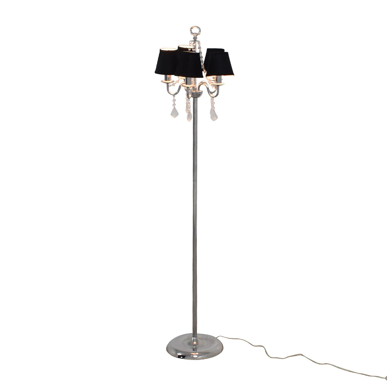 buy Black Chandelier Floor Lamp with Crystals online