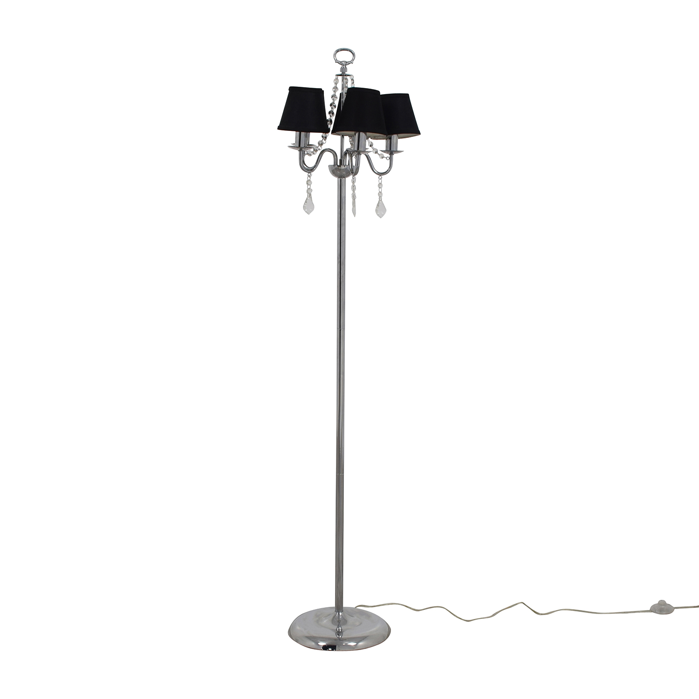 Black Chandelier Floor Lamp with Crystals / Lamps