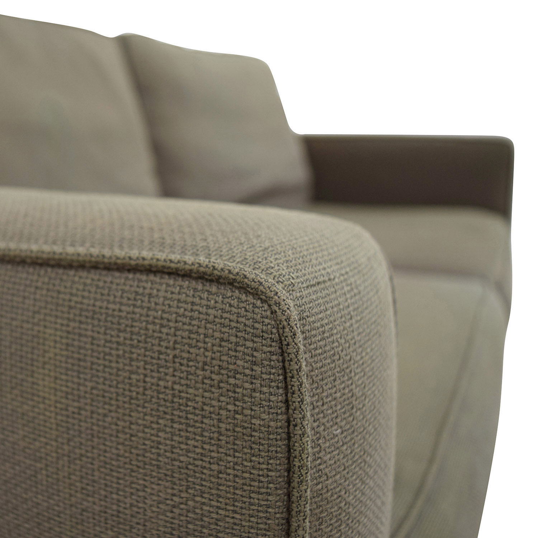 West Elm West Elm Henry Grey Fabric Sofa for sale