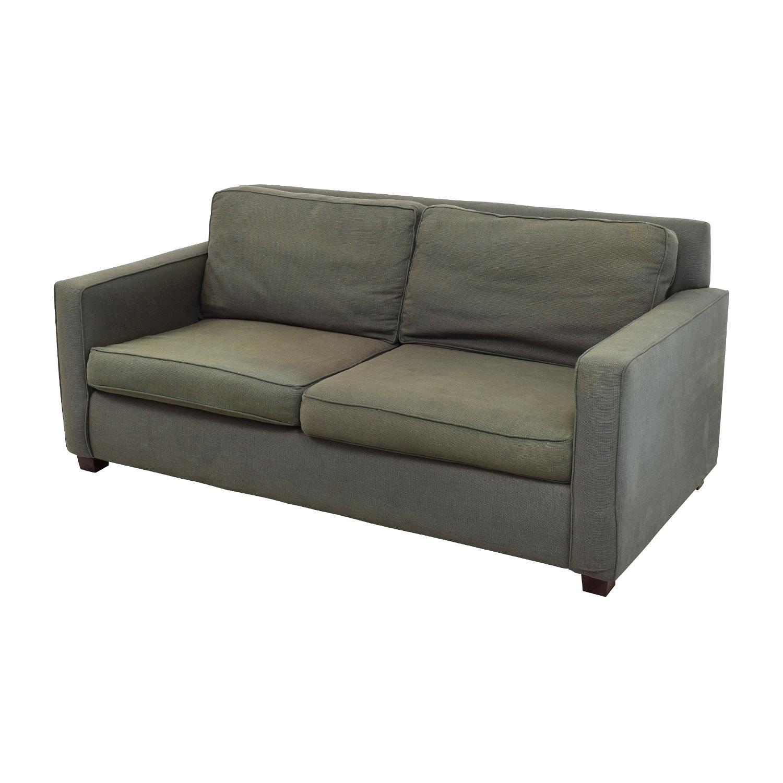 West Elm West Elm Henry Grey Fabric Sofa gray