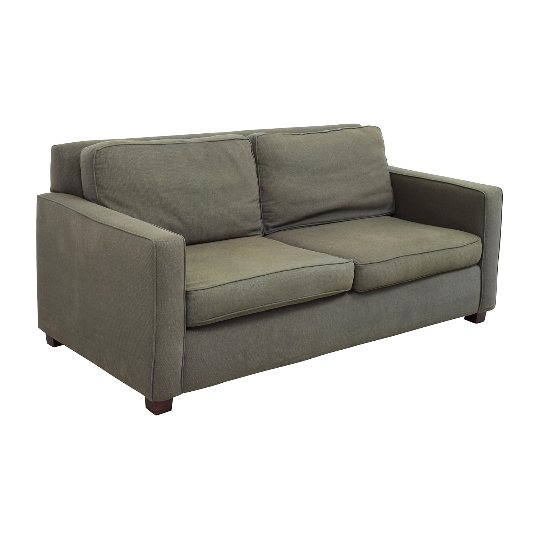 West Elm Henry Grey Fabric Sofa sale