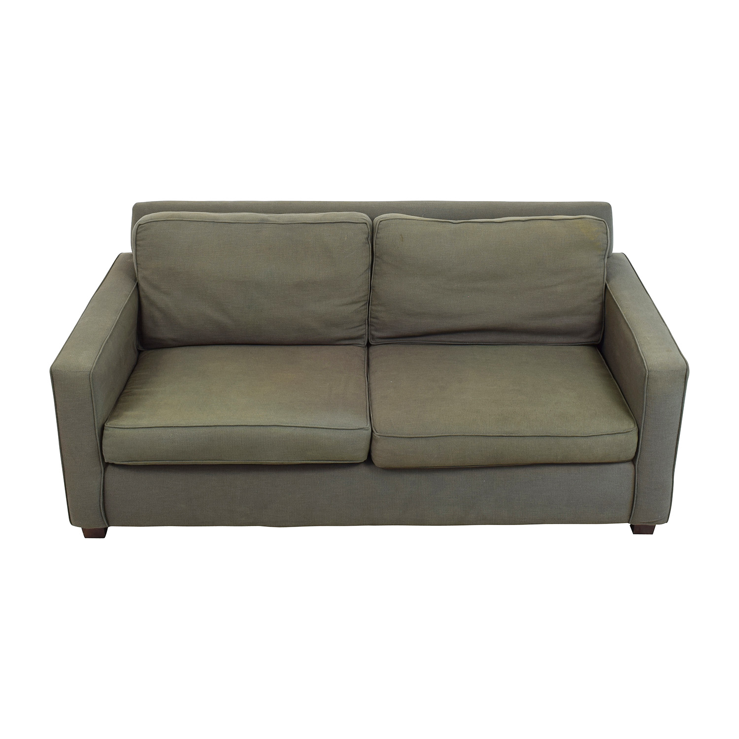 West Elm West Elm Henry Grey Fabric Sofa on sale