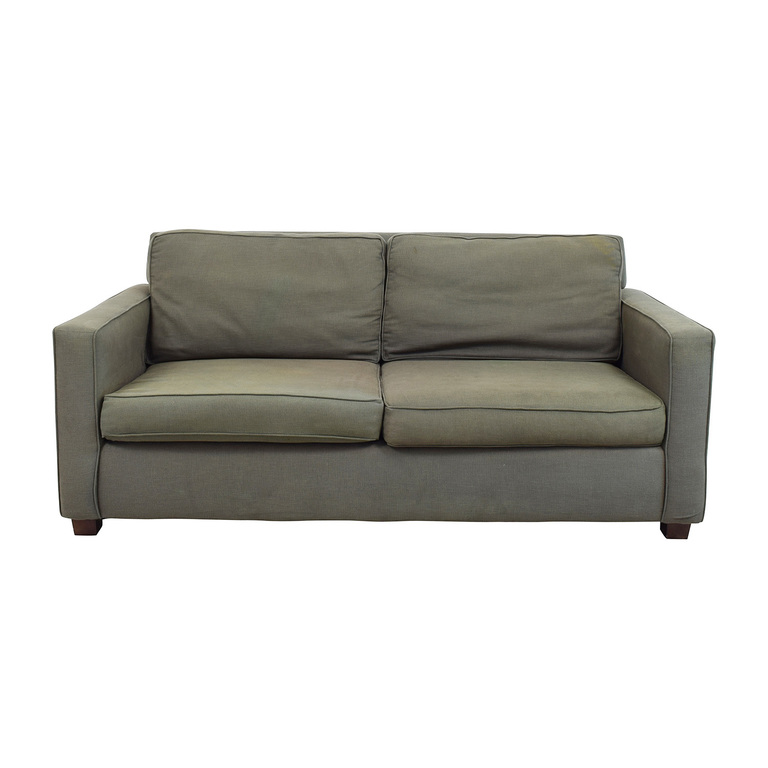 West Elm Henry Grey Fabric Sofa West Elm