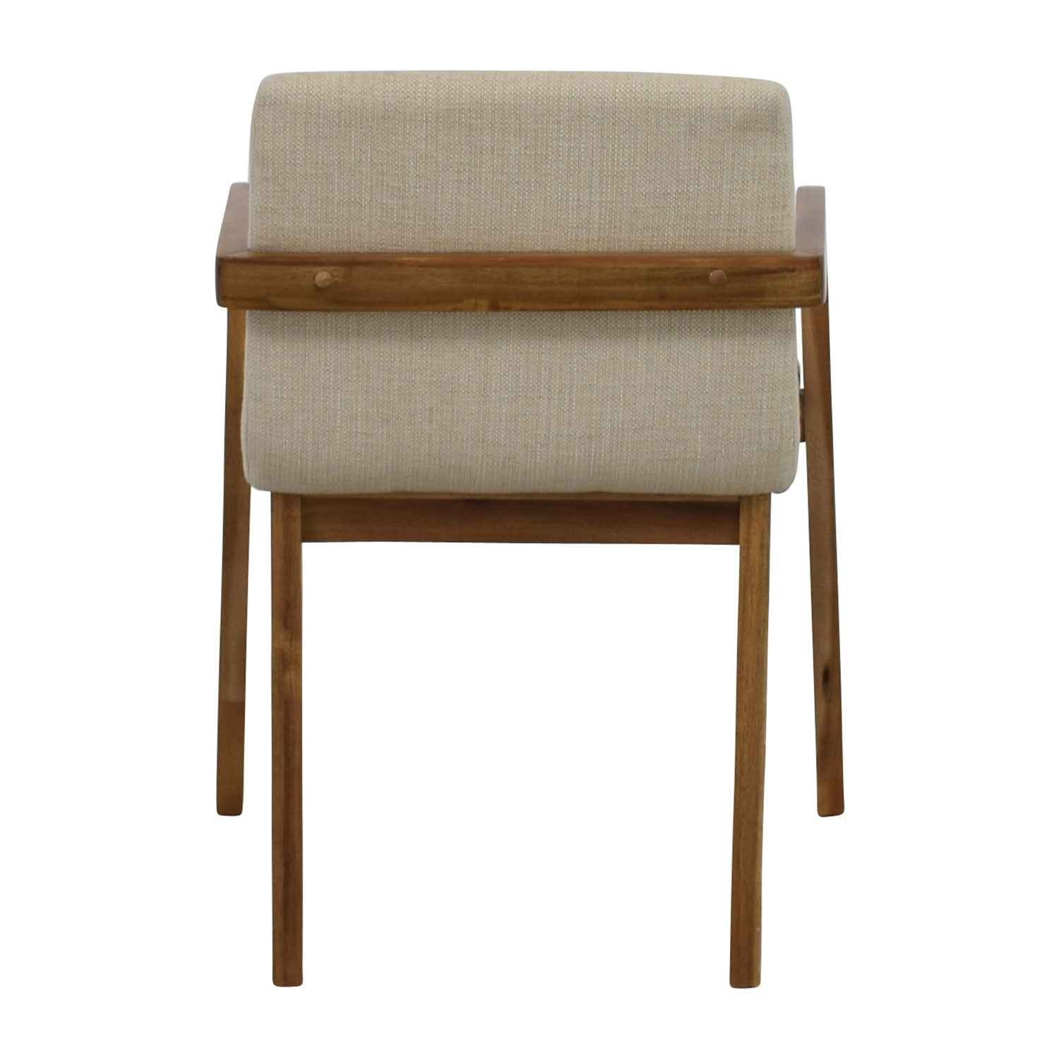 CB2 CB2 Natural Mid-Century Accent Chair White