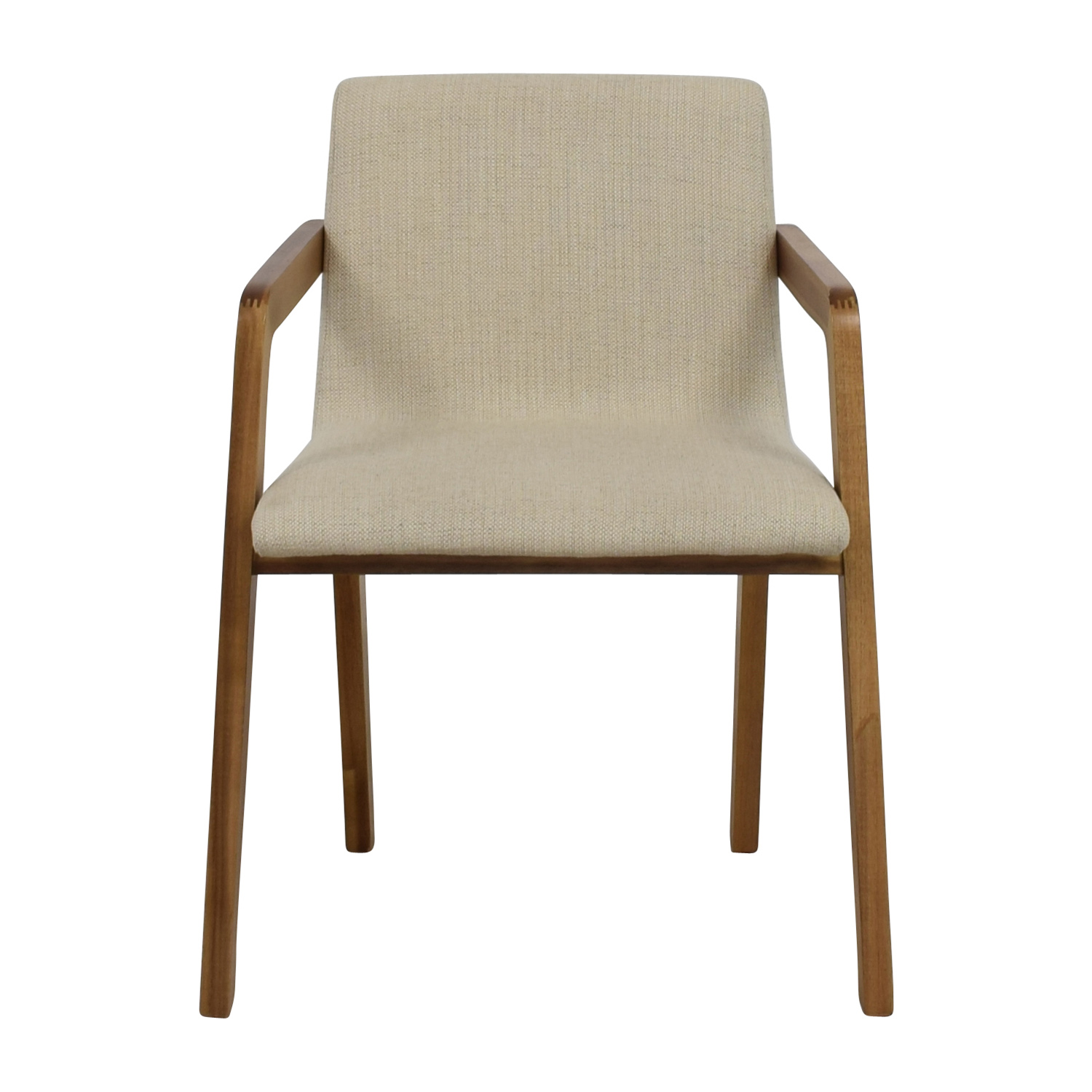 Enjoyable 58 Off Cb2 Cb2 Natural Mid Century Accent Chair Chairs Uwap Interior Chair Design Uwaporg