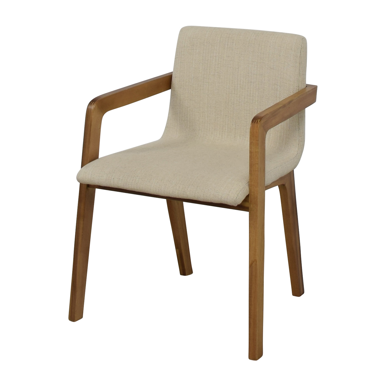 CB2 CB2 Natural Mid-Century Accent Chair discount