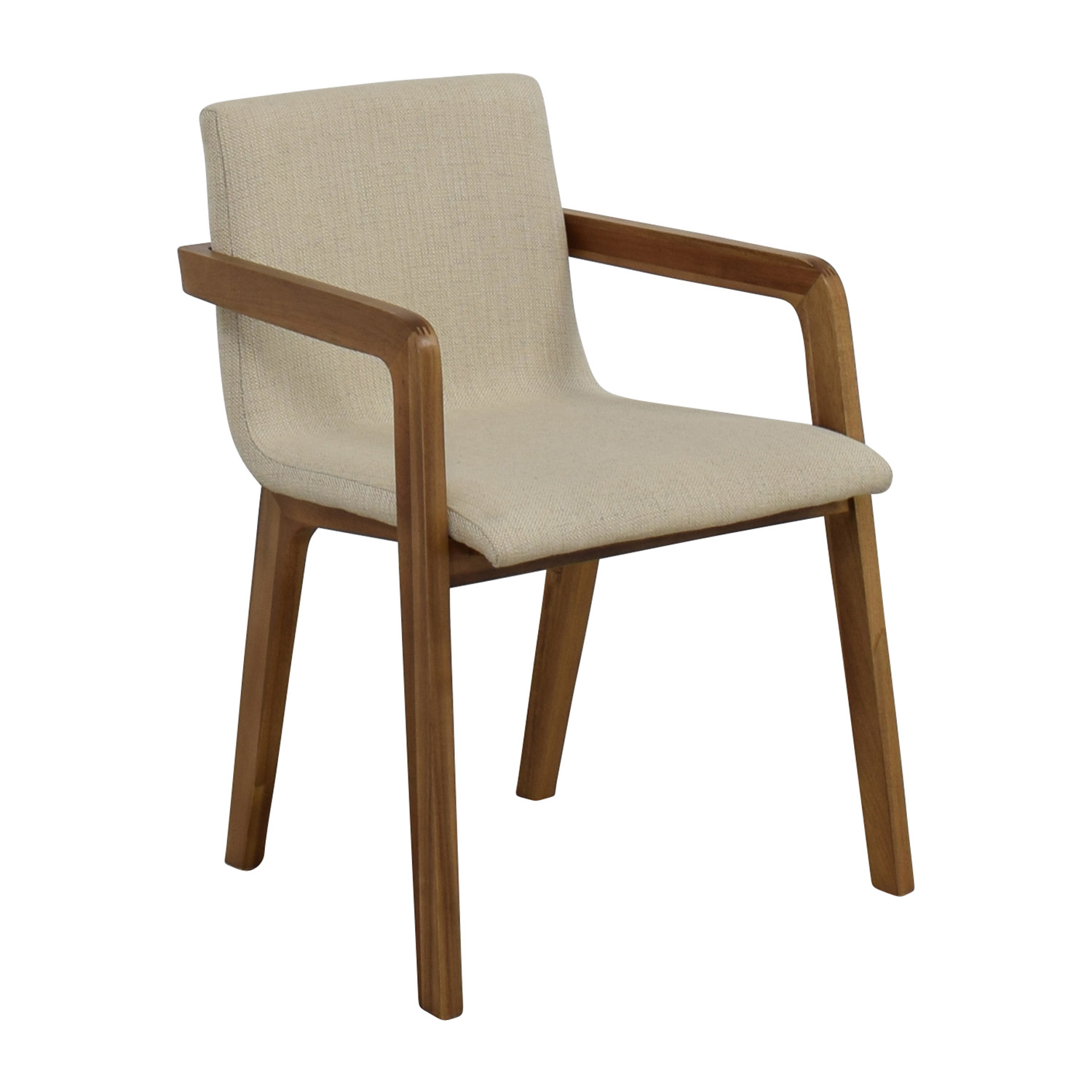 buy CB2 Natural Mid-Century Accent Chair CB2 Accent Chairs