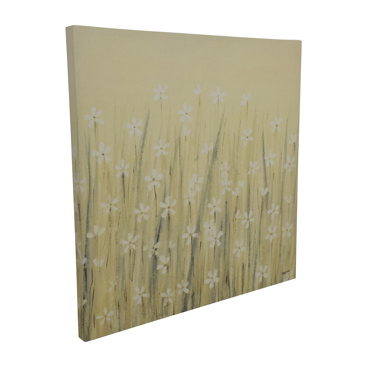 Yellow Daisy Canvas Painting discount