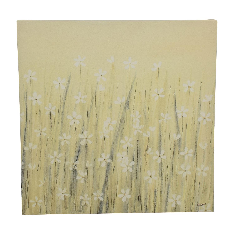 Yellow Daisy Canvas Painting nj