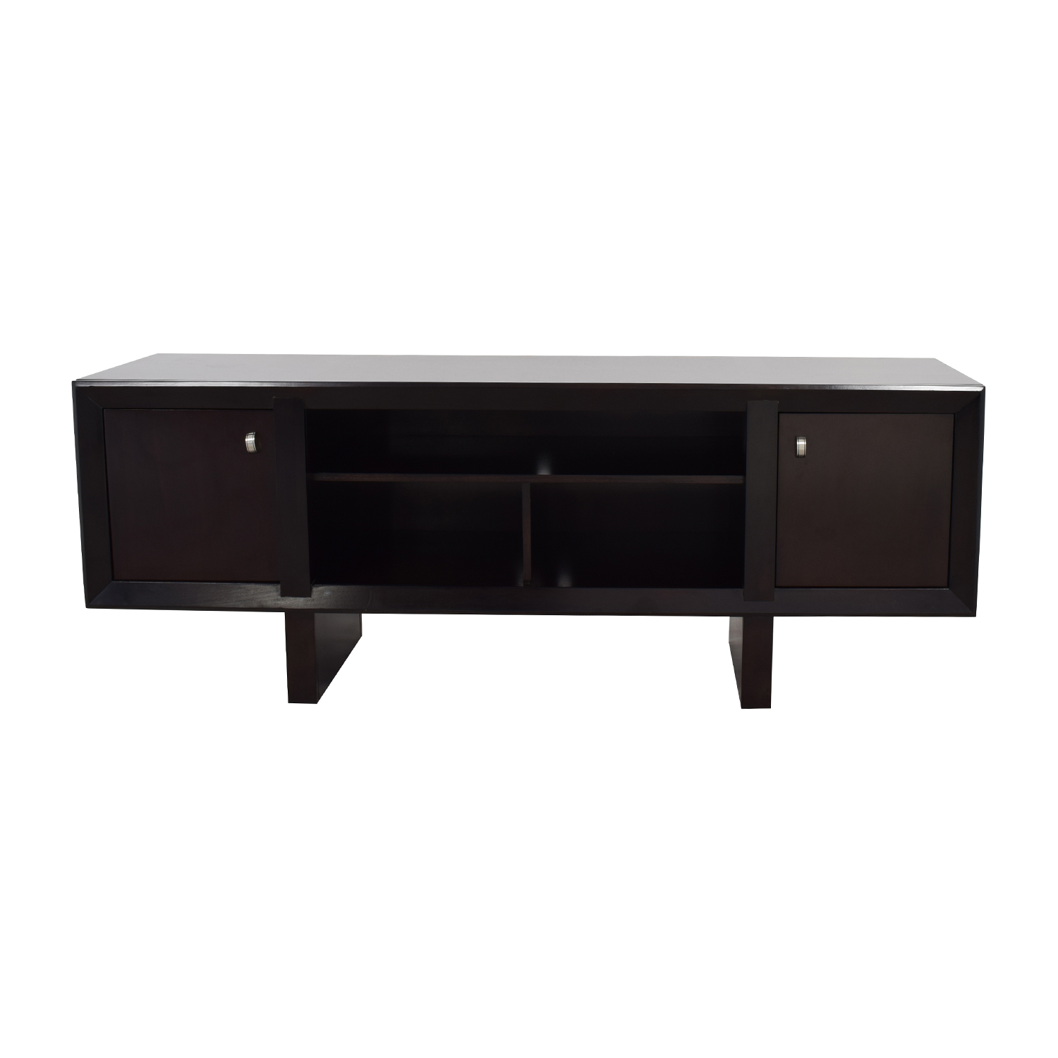 Raymour and Flanigan Raymour & Flanigan Park Avenue Black TV Stand nj