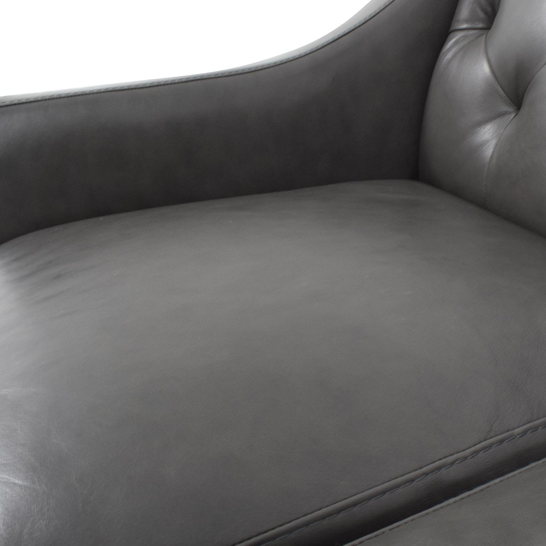 shop Macys Tufted Gray Leather Sofa Macys Classic Sofas