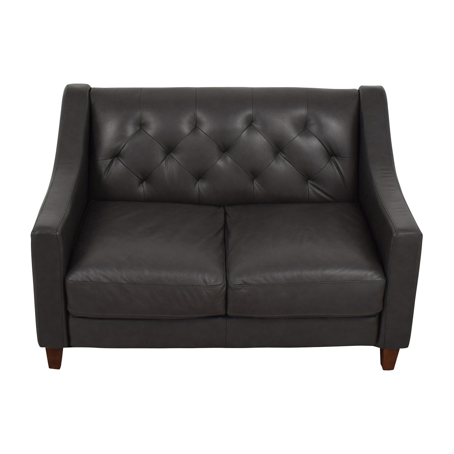 buy Macys Macys Tufted Leather Loveseat online