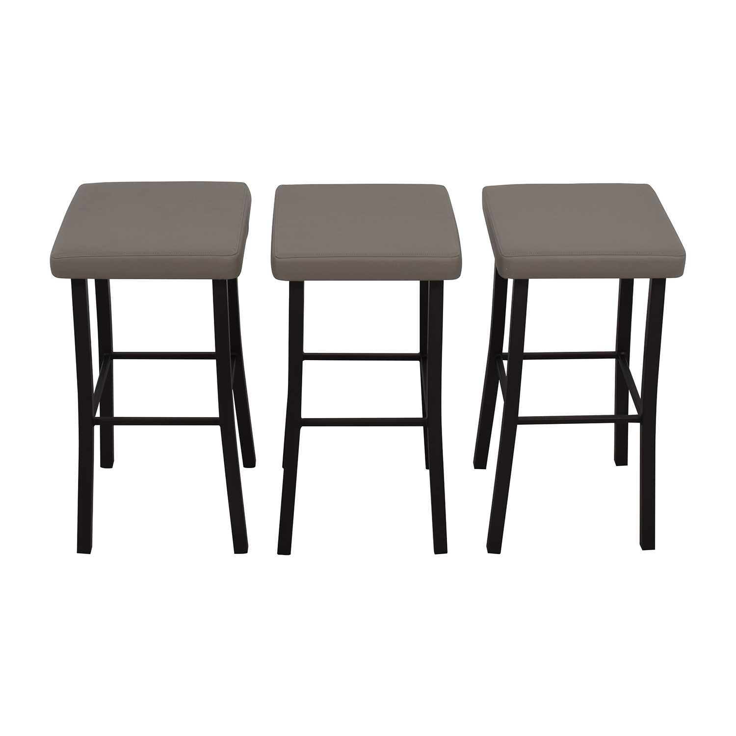 buy Amisco Ryan Grey Faux Leather Stool Amisco Stools