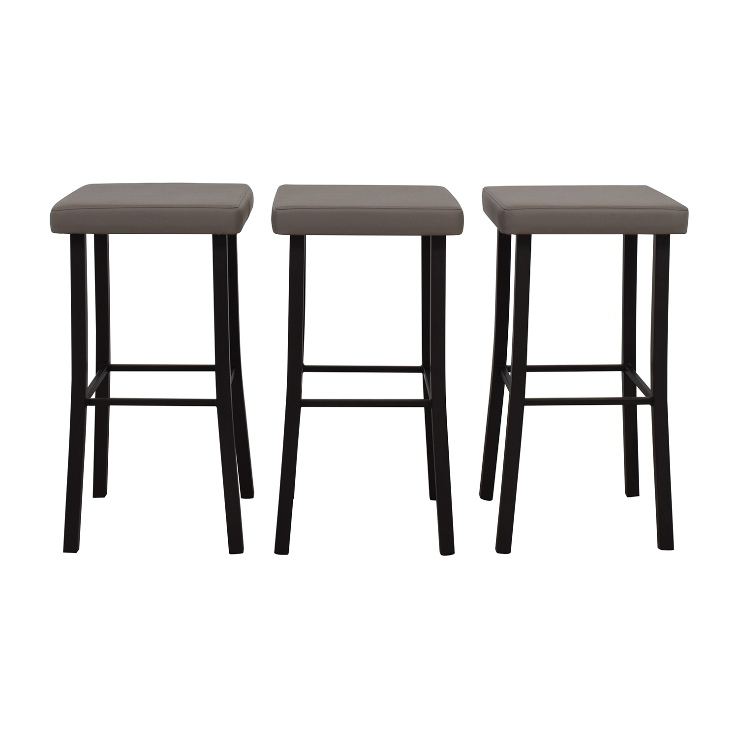 Amisco Amisco Ryan Grey Faux Leather Stool used