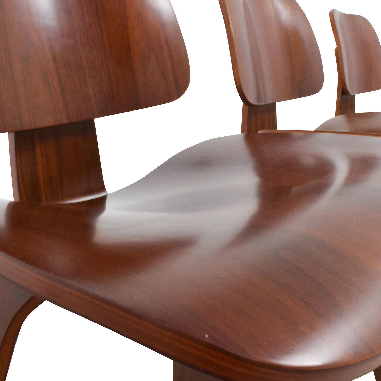 Mid-Century Walnut Veneer Chairs sale