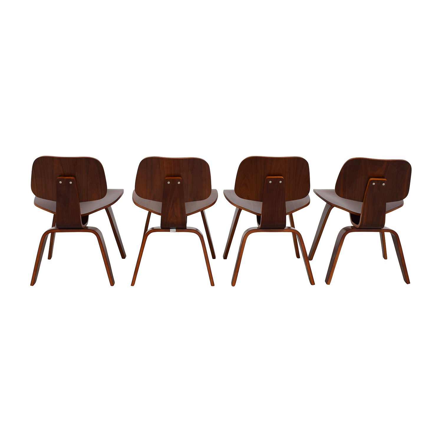 shop Mid-Century Walnut Veneer Chairs Accent Chairs