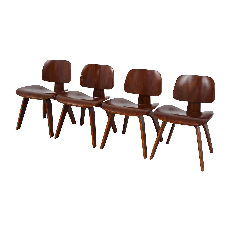 Mid-Century Walnut Veneer Chairs nj