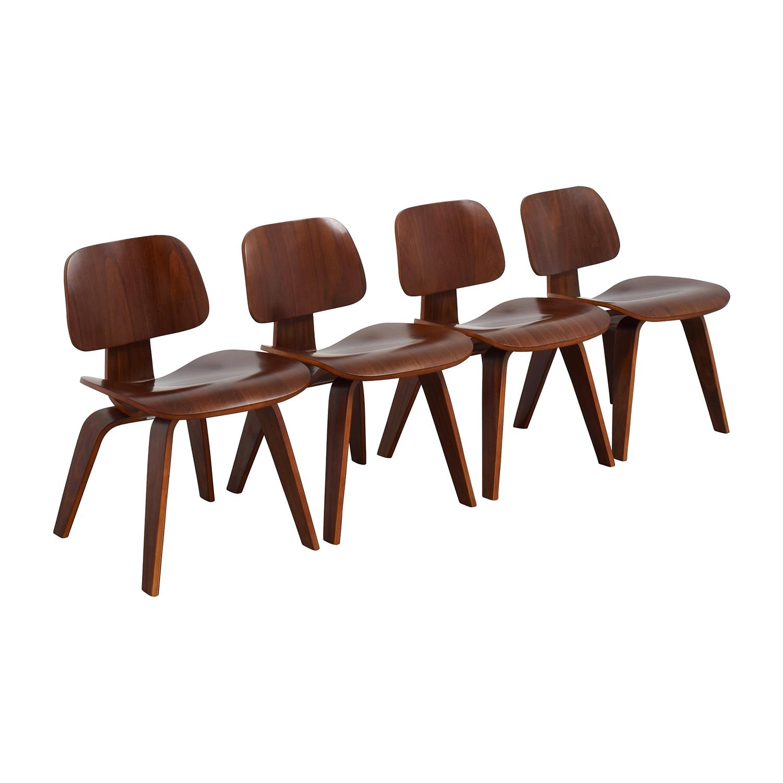 Mid-Century Walnut Veneer Chairs
