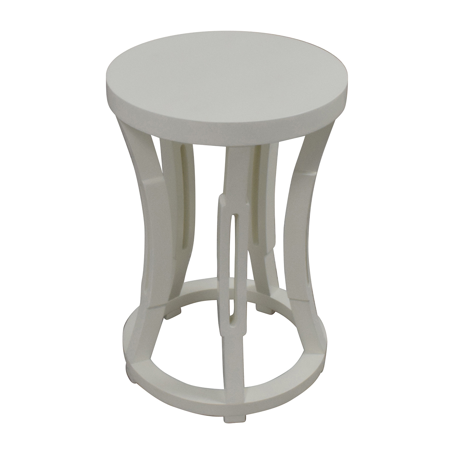 Bungalow 5 Hour Glass Stool Side Table or Stool / End Tables