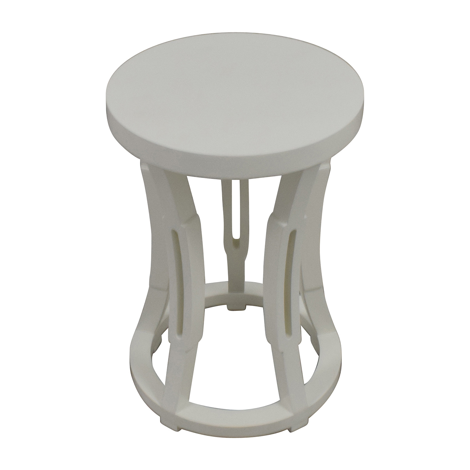 Bungalow 5 Bungalow 5 Hour Glass Stool Side Table or Stool for sale