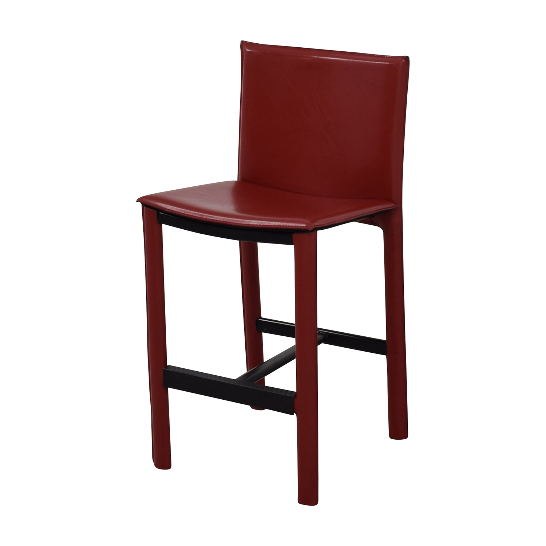 Room & Board Room & Board Sava Bar Stool in Red Leather nj