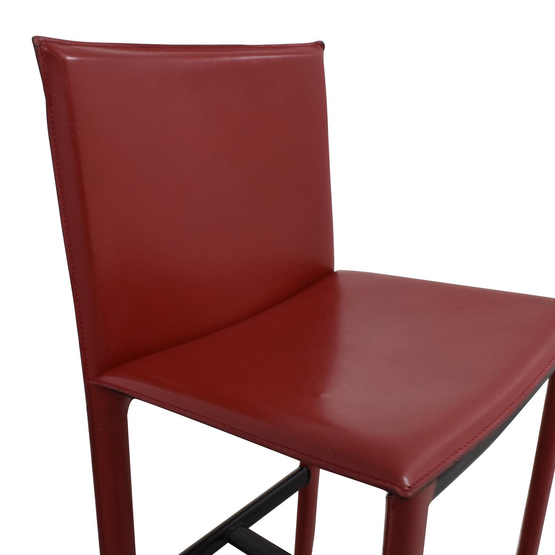 ... Room U0026 Board Room U0026 Board Sava Bar Stool In Red Leather ...