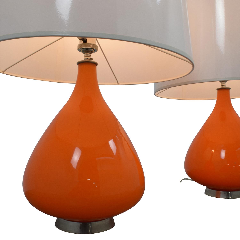 buy Jonathan Adler Lamp Orange Lamps Jonathan Adler Decor