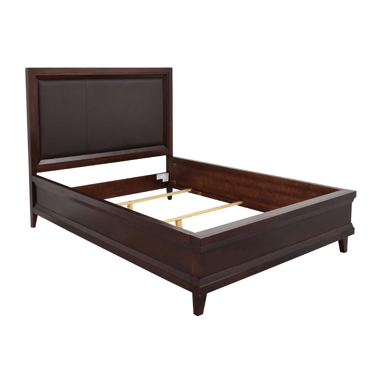 82 off raymour and flanigan raymour and flanigan dark 16930 | raymour and flanigan dark brown queen bed frame second hand