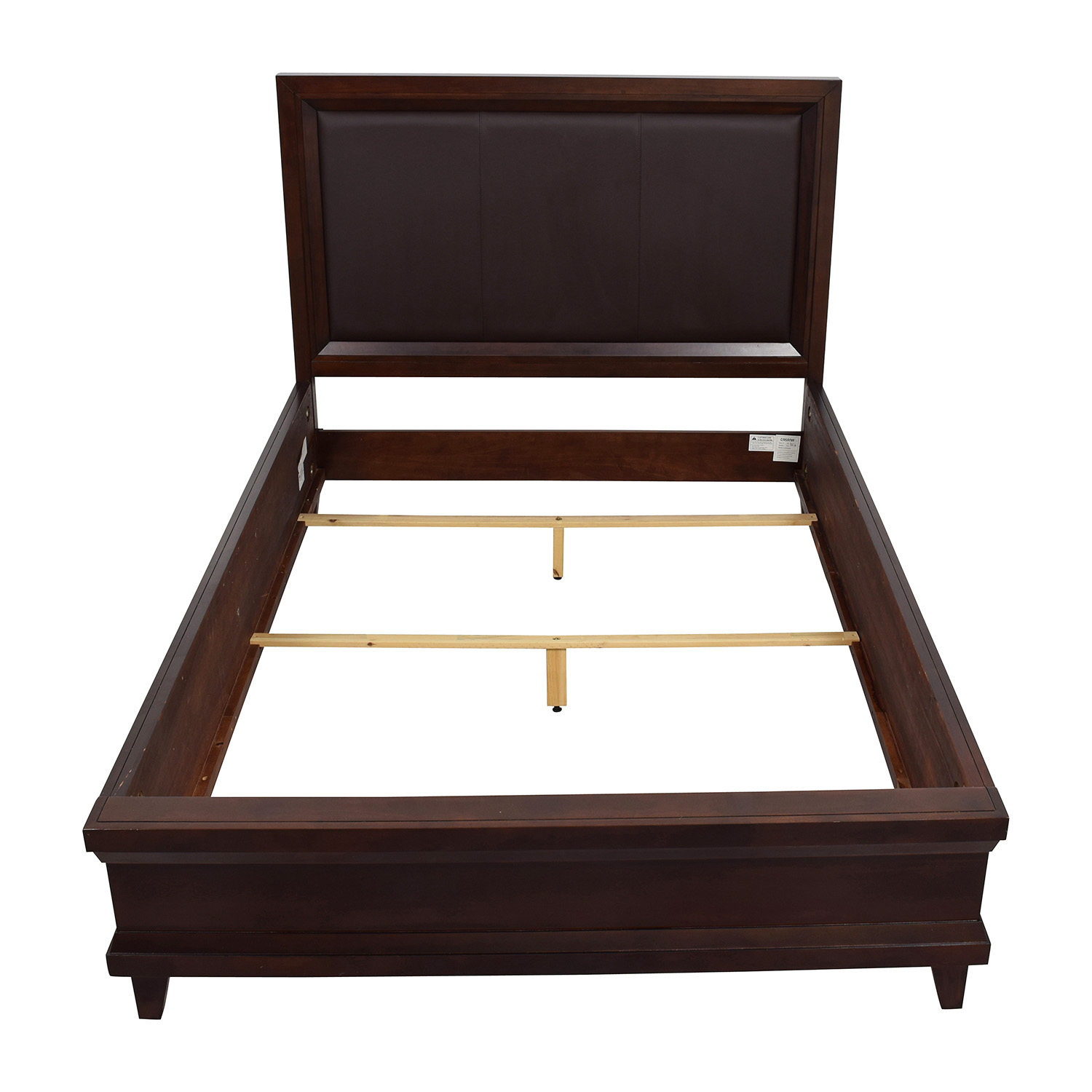 buy raymour and flanigan dark brown queen bed frame raymour and flanigan - Where Can I Buy Bed Frames