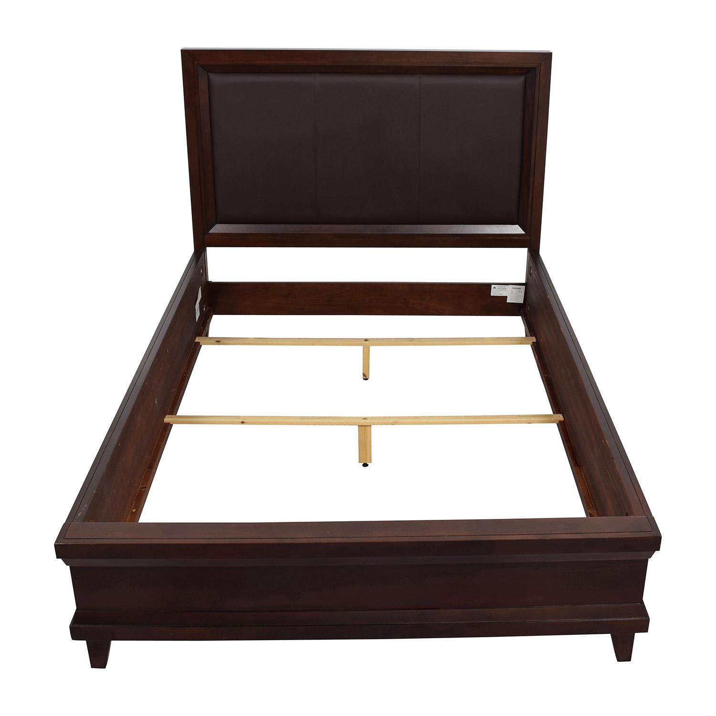 buy Raymour and Flanigan Raymour and Flanigan Dark Brown Queen Bed Frame online
