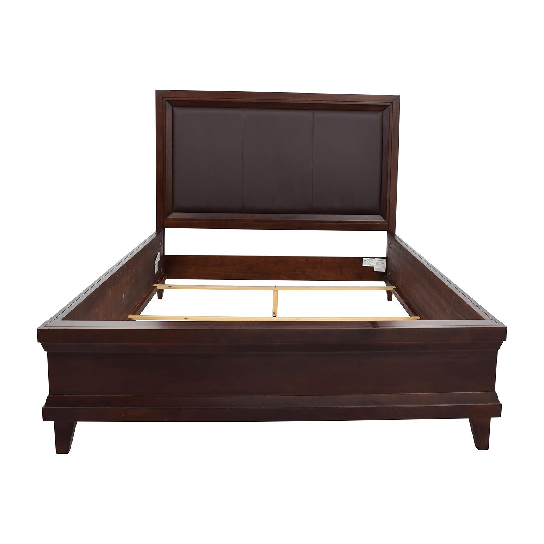 shop Raymour and Flanigan Raymour and Flanigan Dark Brown Queen Bed Frame online