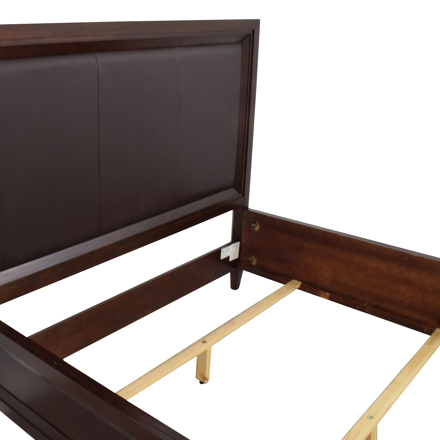 Raymour and Flanigan Raymour and Flanigan Dark Brown Queen Bed Frame price