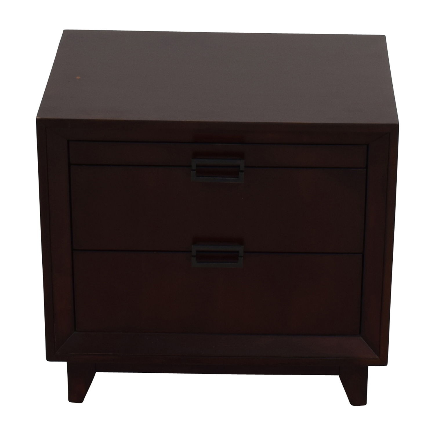 shop Raymour and Flanigan Dark Wood Nightstand Raymour and Flanigan