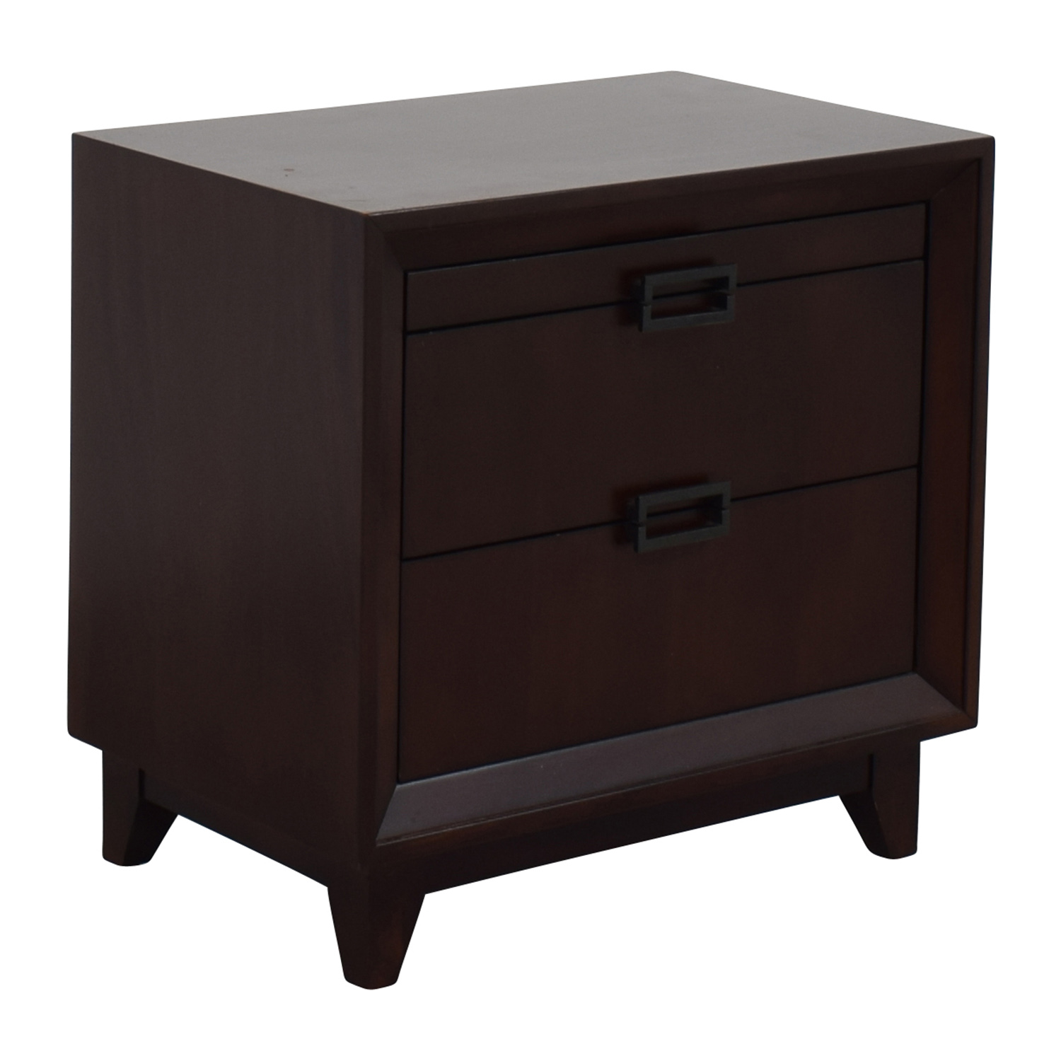 Raymour and Flanigan Raymour and Flanigan Dark Wood Nightstand Tables