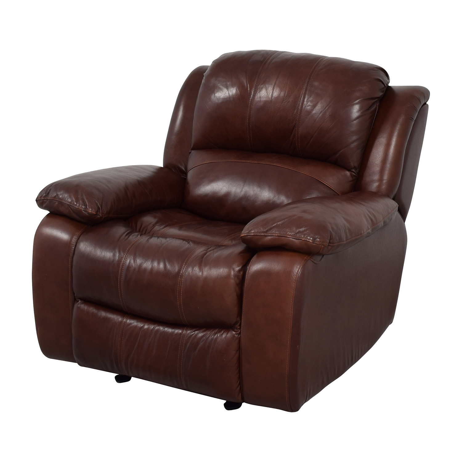 Raymour and Flanigan Raymour and Flanigan Bryant II Leather Glider Recliner