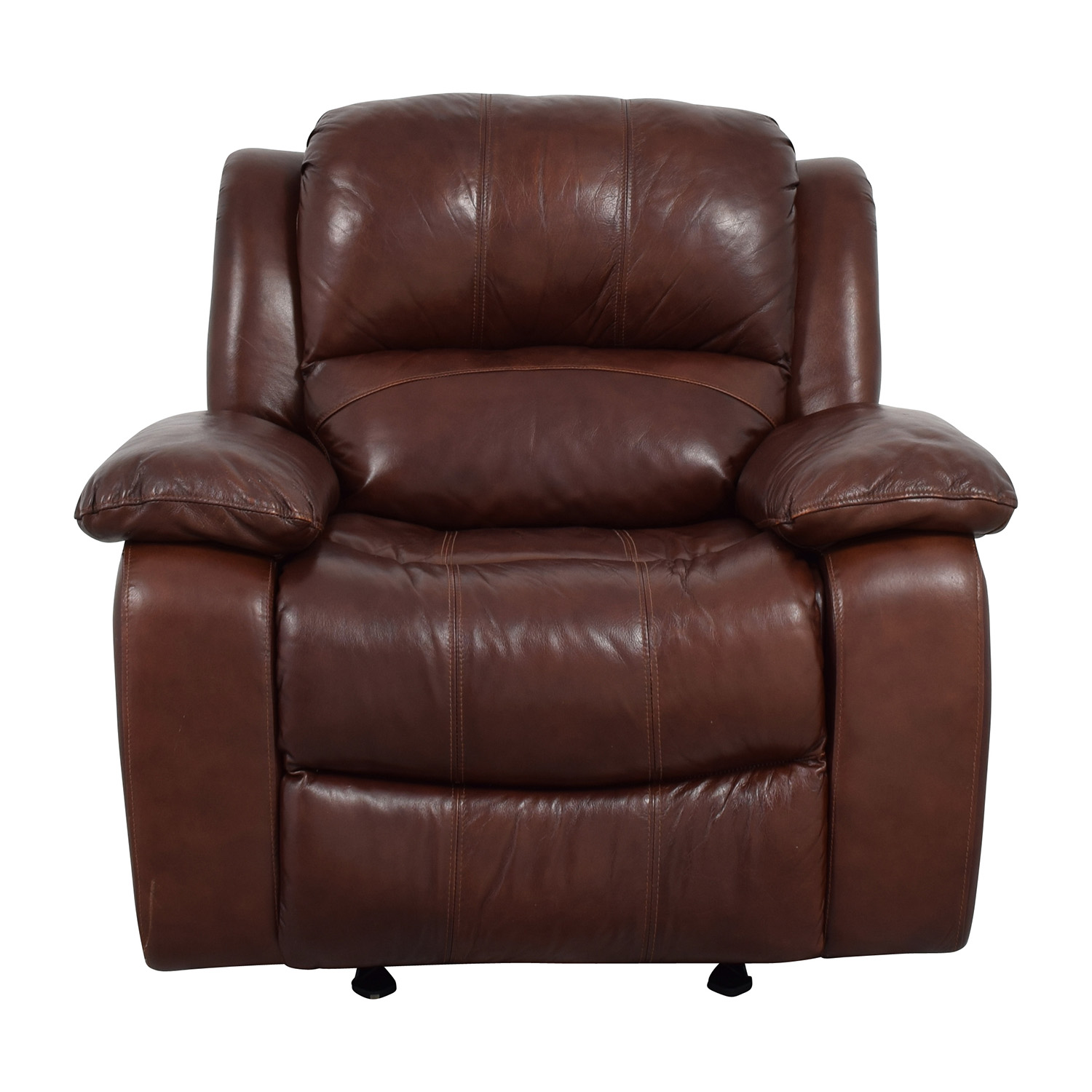 Raymour And Flanigan Bryant Ii Leather Glider Recliner