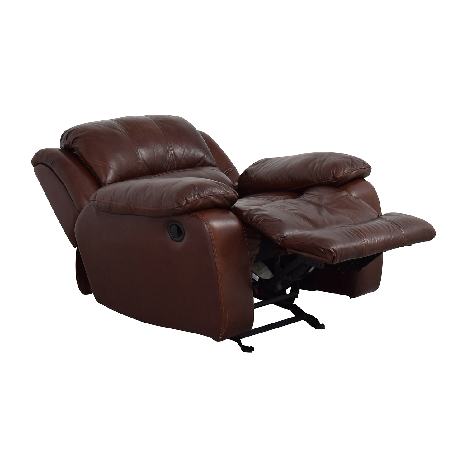 Raymour and Flanigan Raymour and Flanigan Bryant II Leather Glider Recliner discount