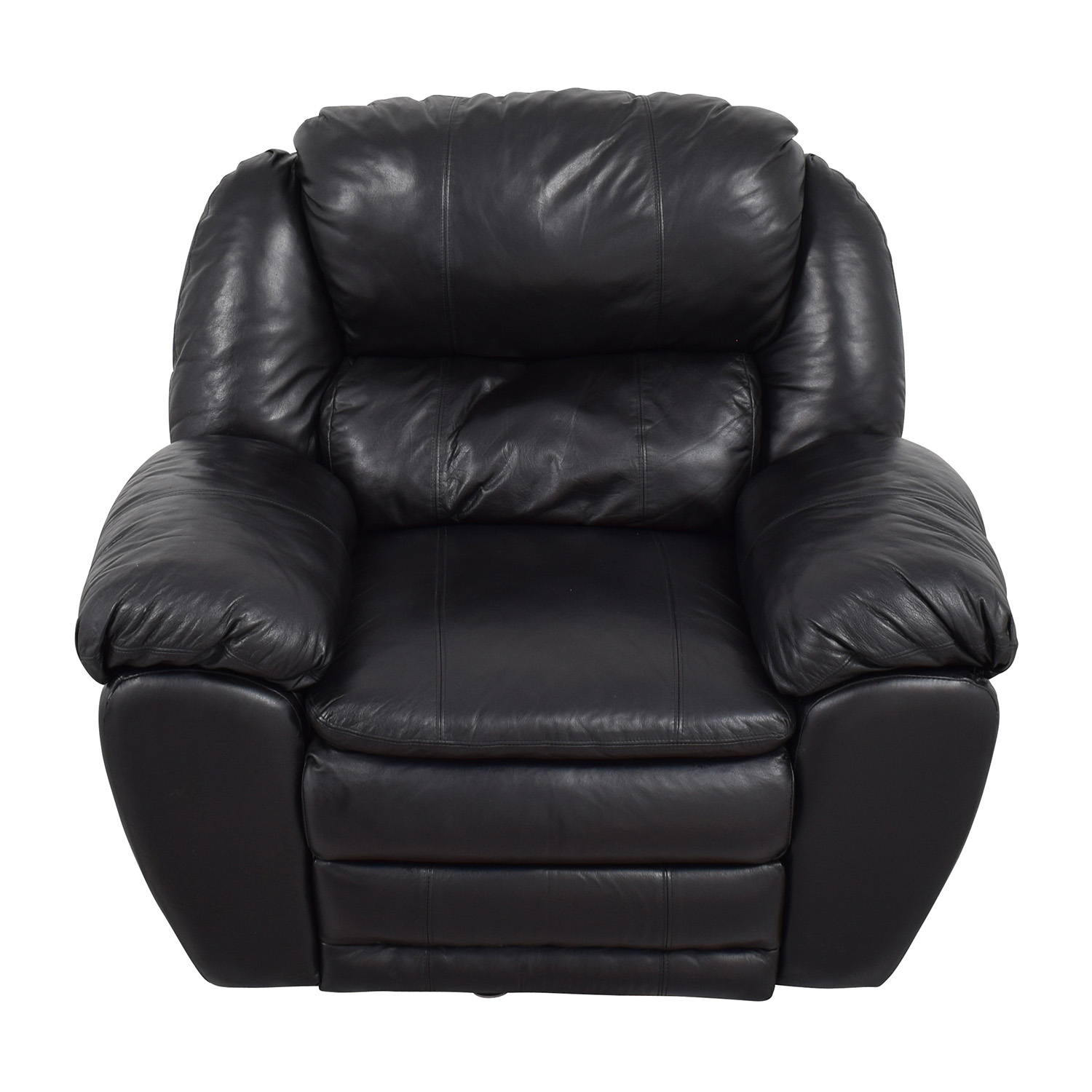 Berkline Berkline Black Leather Rocking Recliner Recliners
