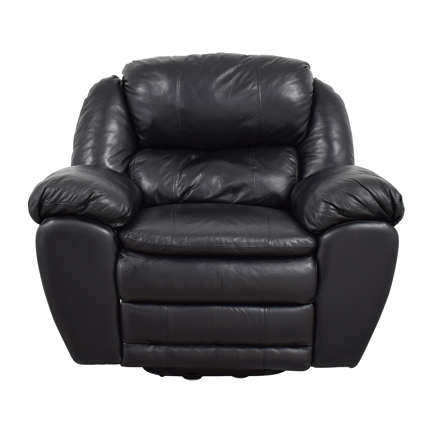 Berkline Black Leather Rocking Recliner / Recliners