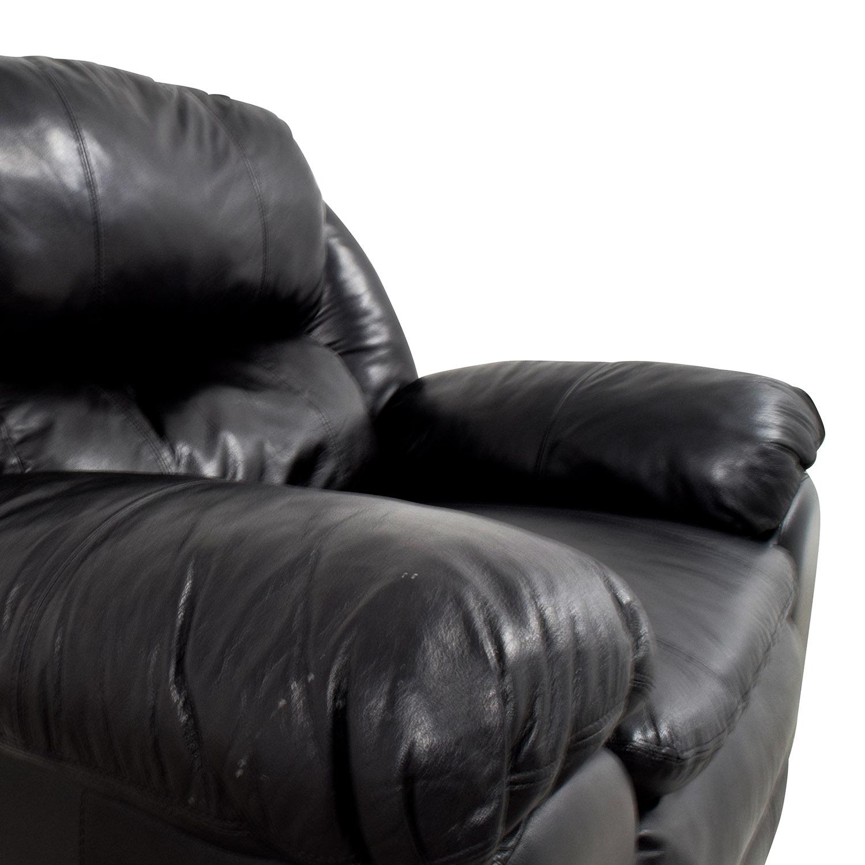 Berkline Berkline Black Leather Rocking Recliner black