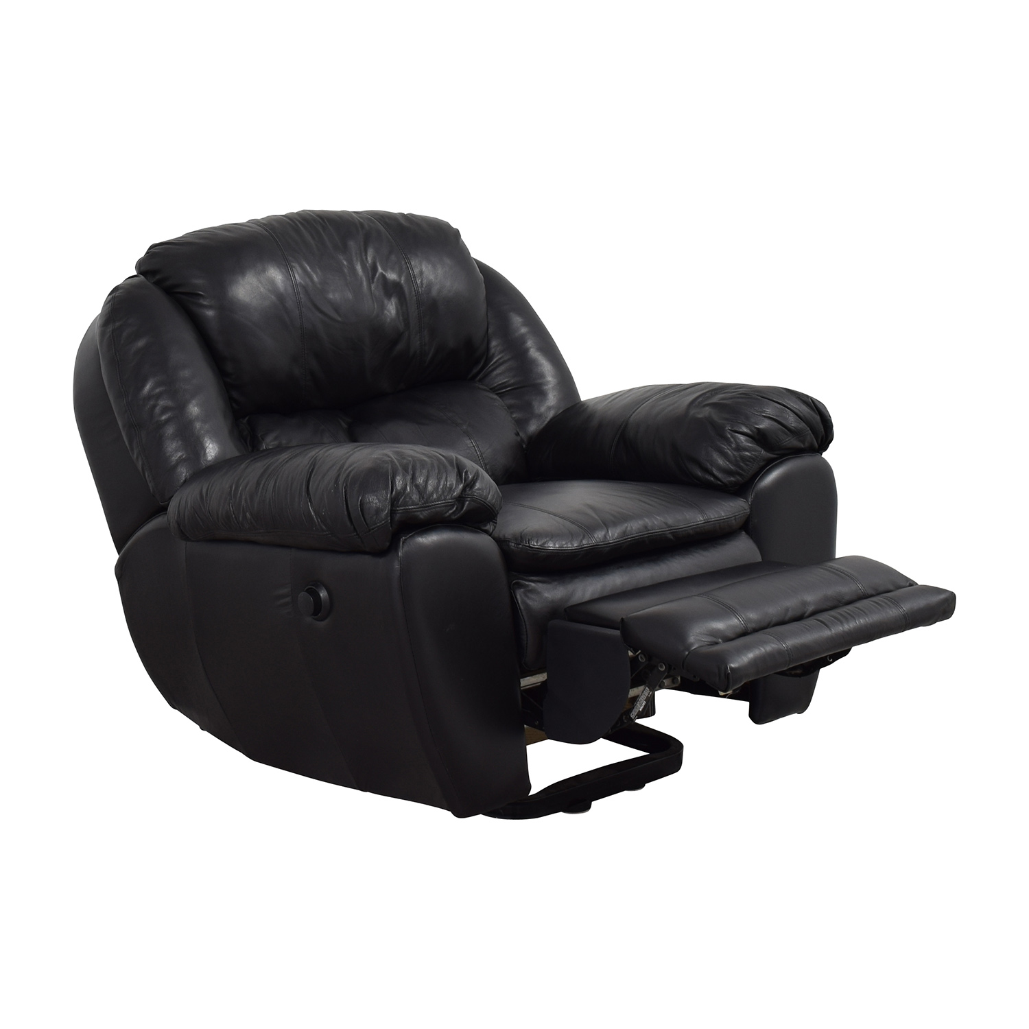 ... Berkline Berkline Black Leather Rocking Recliner Chairs ...