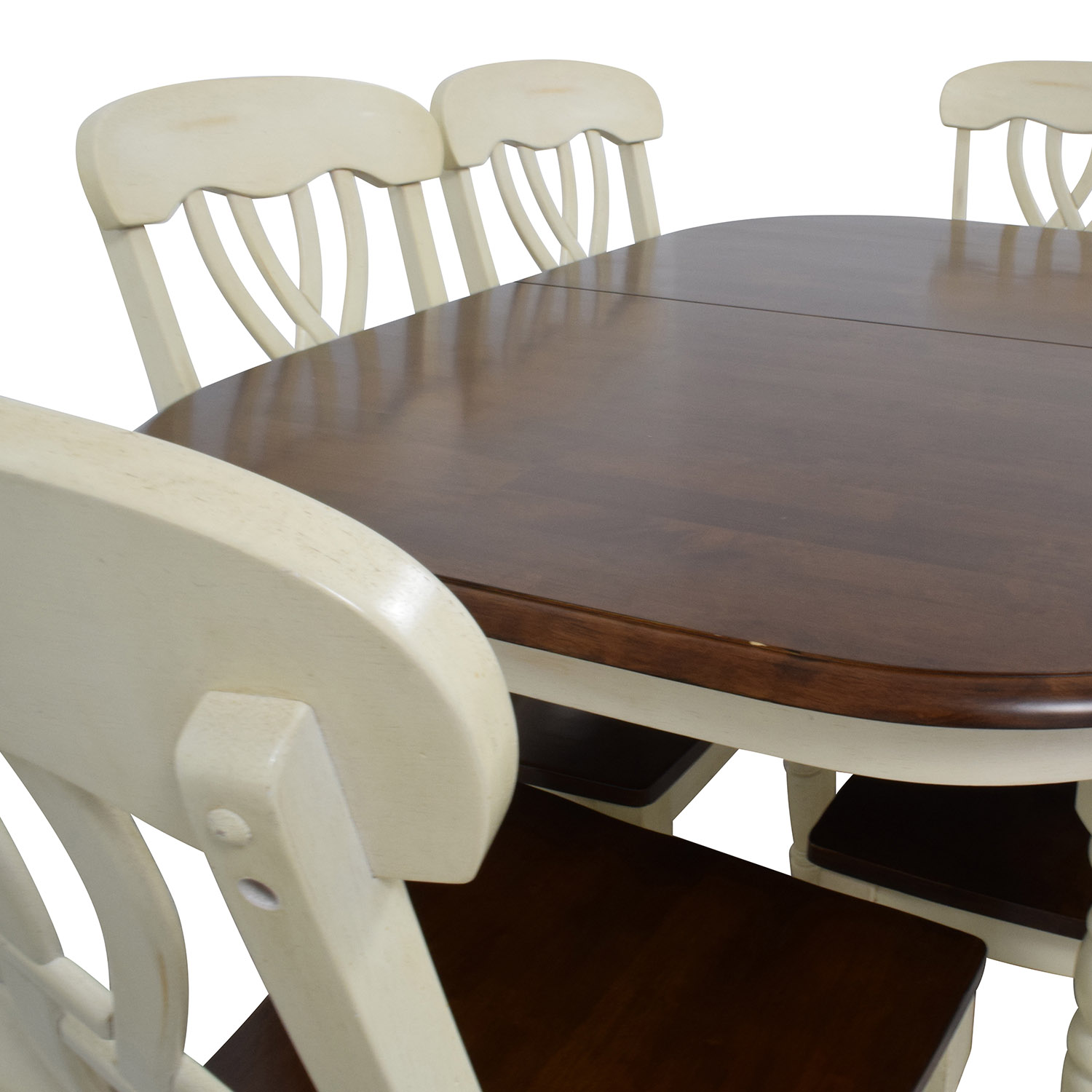50 off extendable wood dining table with chairs tables for Buy dining table