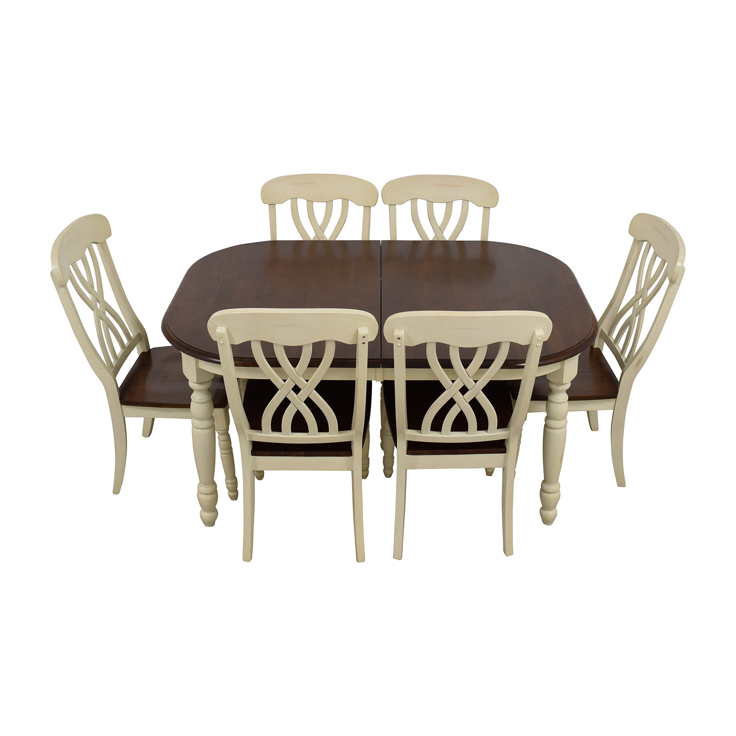 Extendable Wood Dining Table with Chairs Dining Sets
