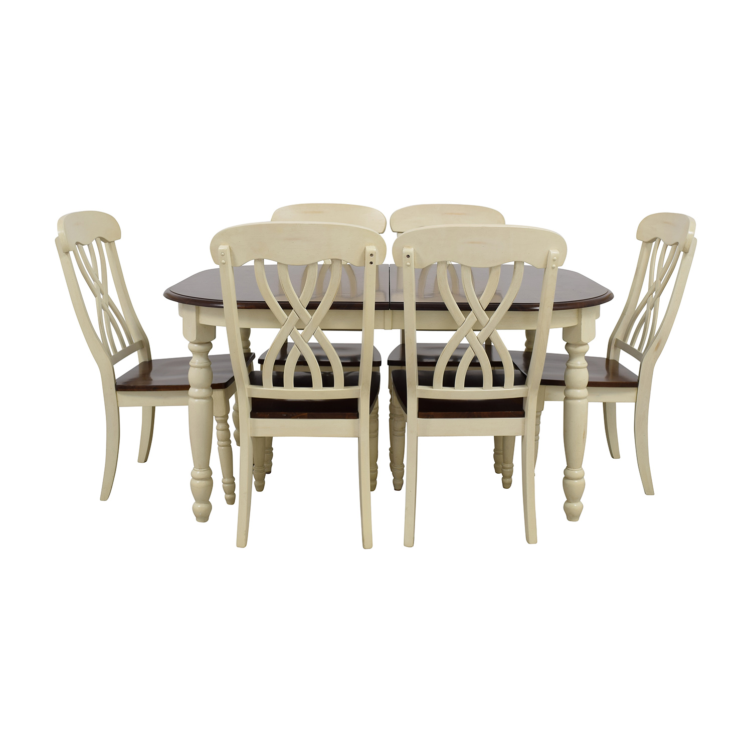 Extendable Wood Dining Table with Chairs dimensions