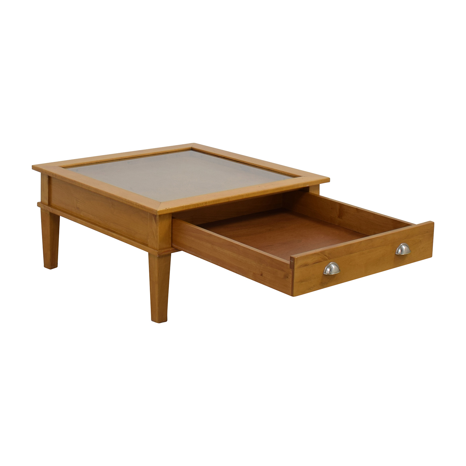 80 Off Wooden Shadow Box Square Coffee Table Tables